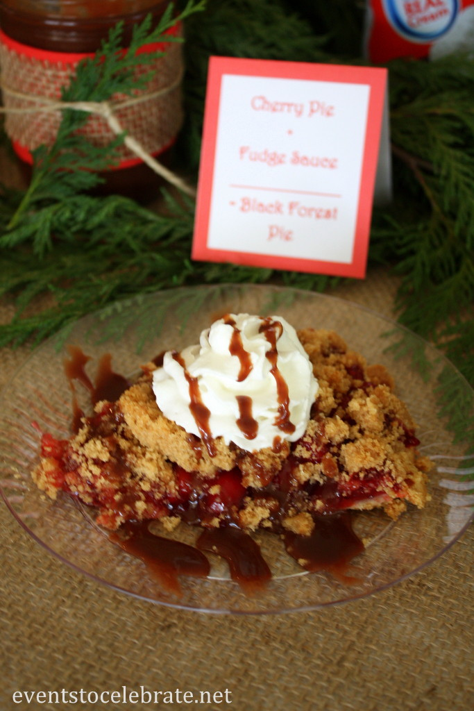 Black Forest Cherry Pie with homemade Fudge Sauce - eventstocelebrate.net