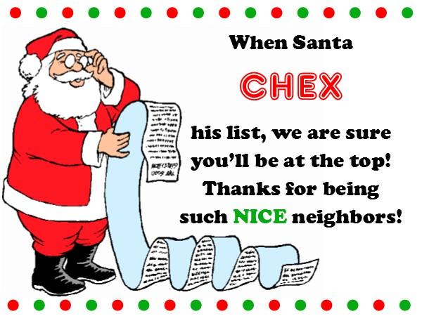 Christmas Neighbor Gift Tags