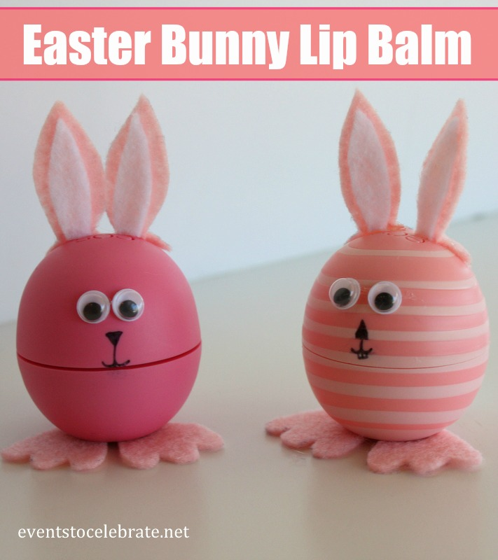 Easter Bunny Lip Balm Craft - Events To Celebrate