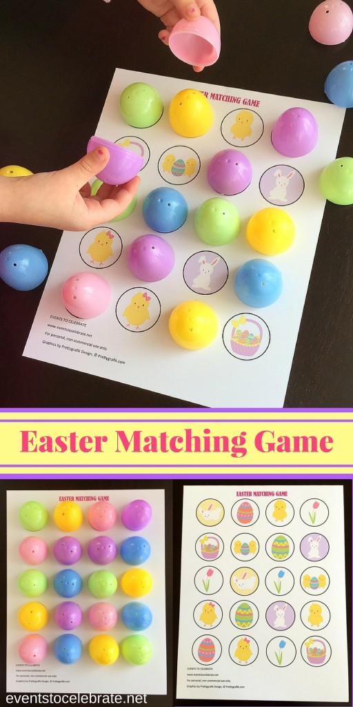 Easter Matching Game Printable