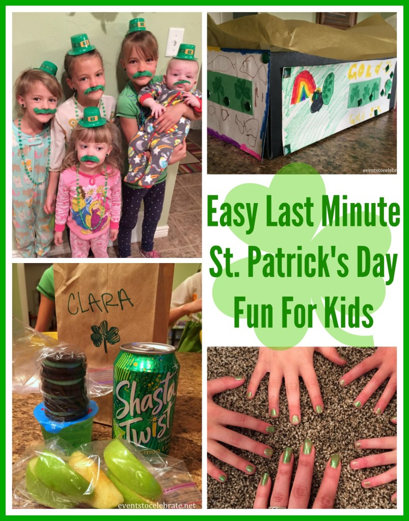 Easy Last Minute St Patricks Day Fun For Kids - Events To Celebrate