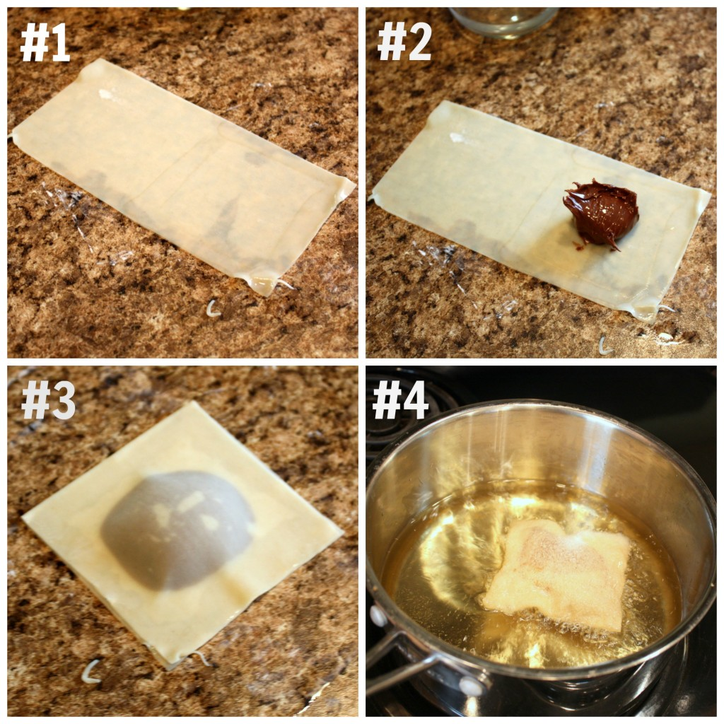 Nutella Wontons Tutorial - Events To Celebrate