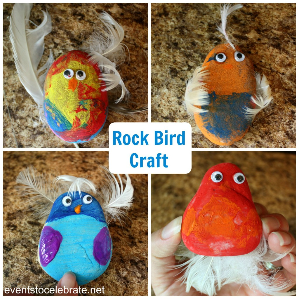 Nature Party Craft - Rock Birds - eventstocelebrate.net
