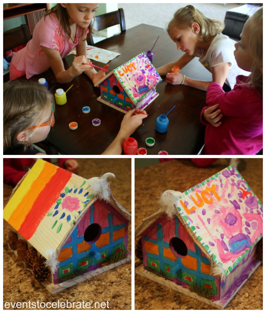 Nature Party - Painting Bird Houses - eventstocelebrate.net