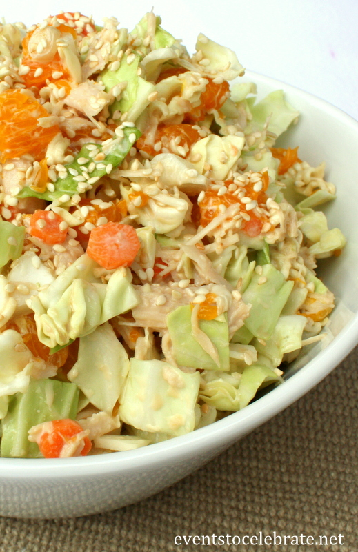 Asian Chicken Salad with Sesame Soy Dressing