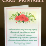 Mother's Day Card or Infertility Card - Free Printable from eventstocelebrate.net