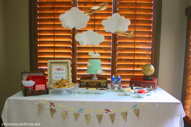 Vintage Airplane Baby Shower   Eventstocelebrate.net