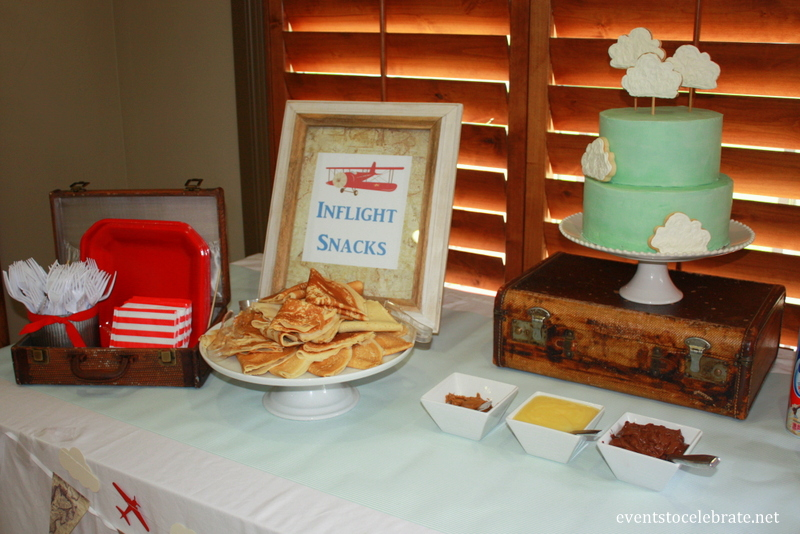 Vintage Airplane Baby Shower - eventstocelebrate.net