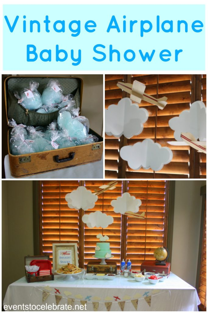 Vintage airplane baby shower events to celebrate for Dekoration fur babyparty