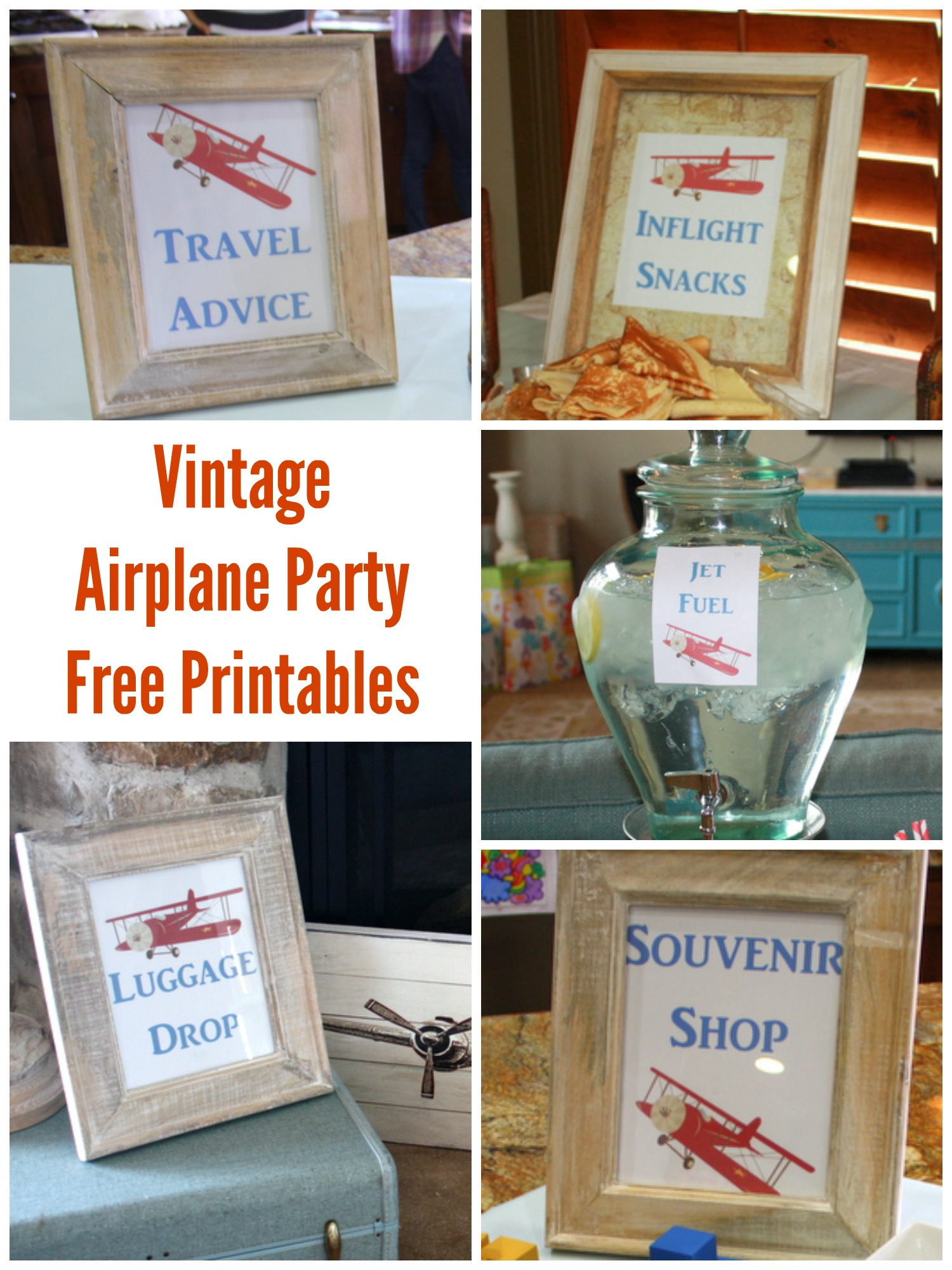Vintage Airplane Shower Printables & Games - events to ...