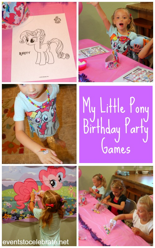 My Little Pony Birthday Party Games - Eventstocelebrate.net