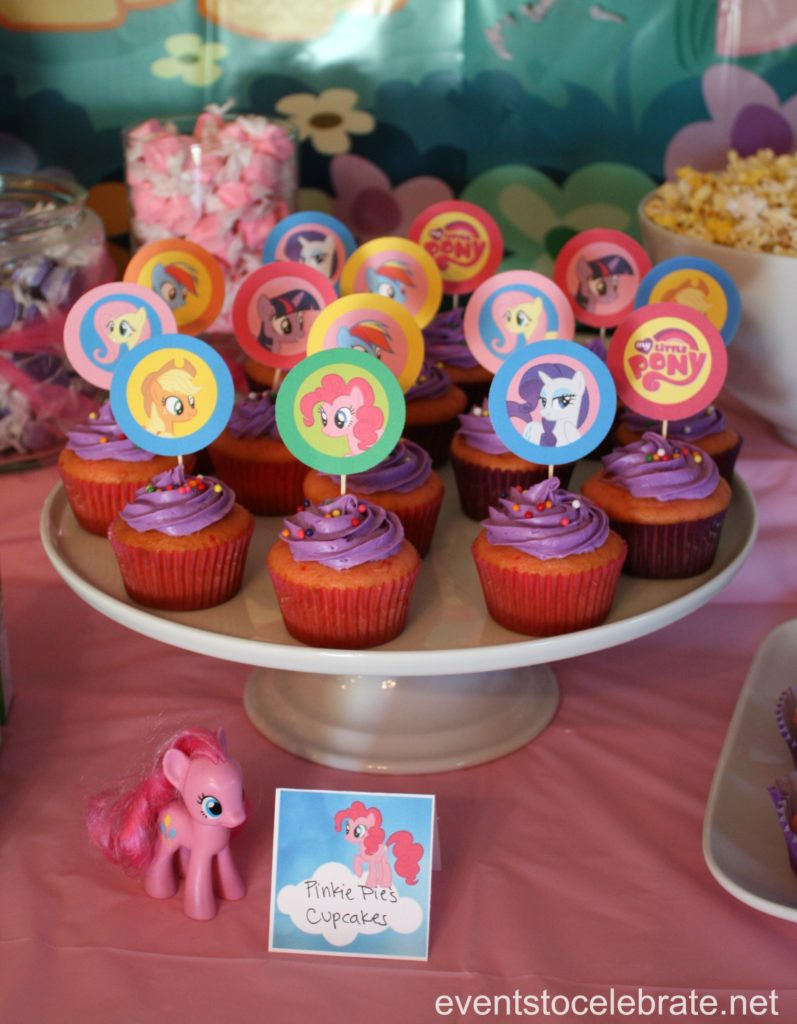 My Little Pony Party Cupcakes - eventstocelebrate.net
