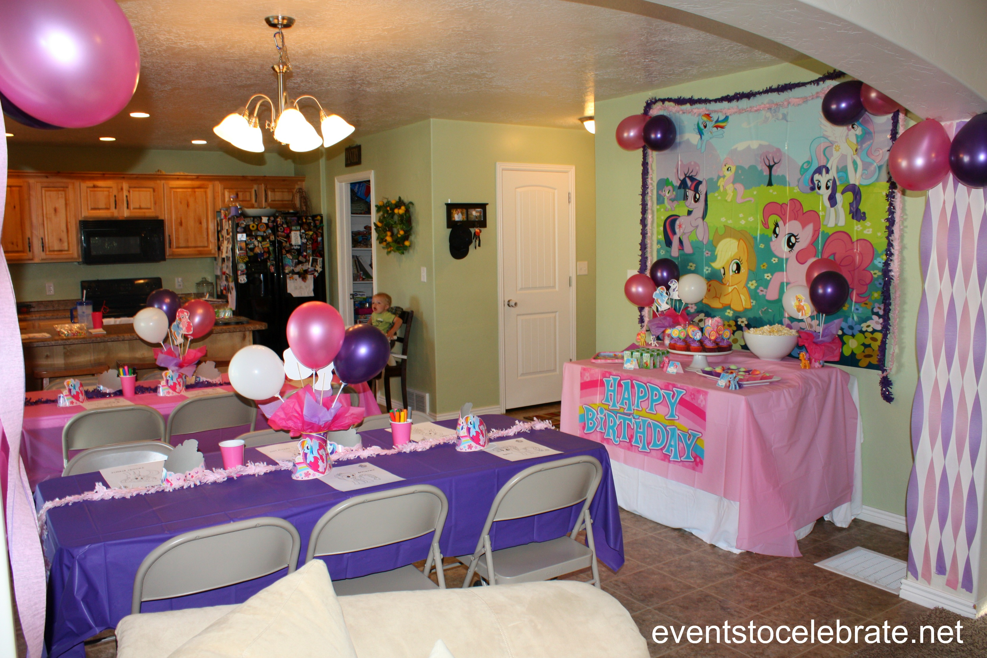 My little pony party ideas events to celebrate for Decoration de table