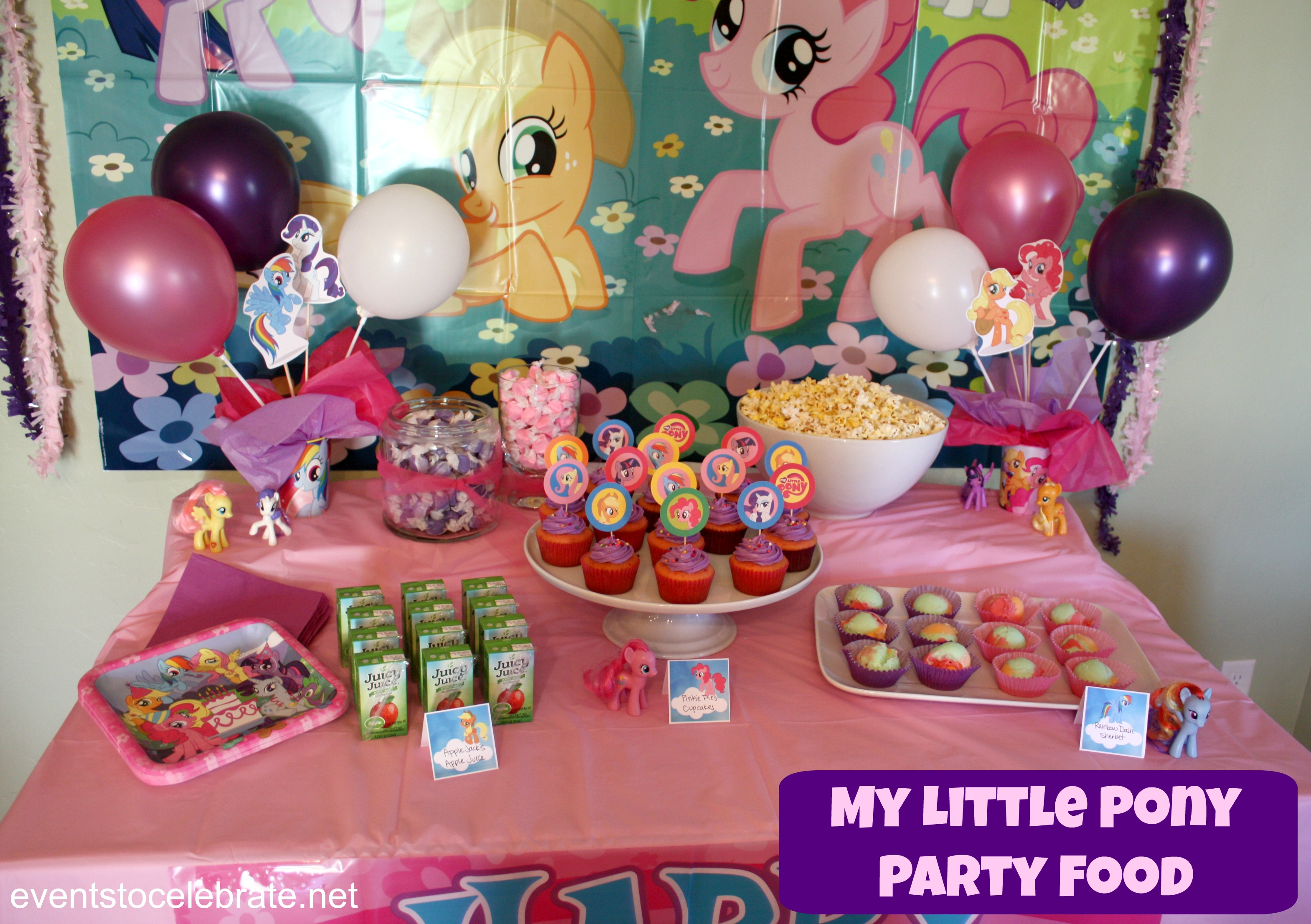 My Little Pony Birthday Party Ideas Food