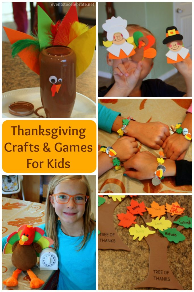 Thanksgiving Crafts and Games for Kids - eventstocelebrate.net