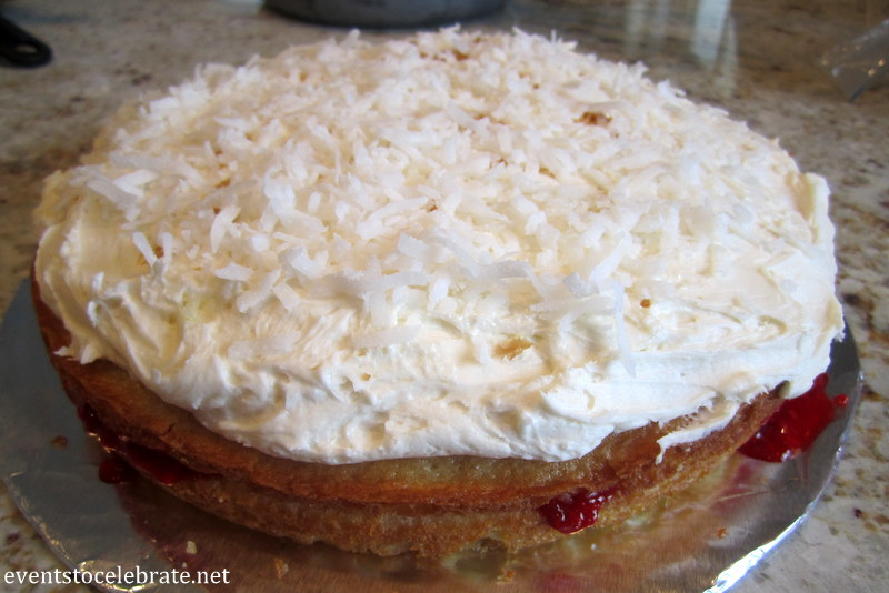 Coconut Raspberry Cake - eventstocelebrate.net