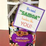 Teacher Appreciation Gift - Samoas - eventstocelebrate.net