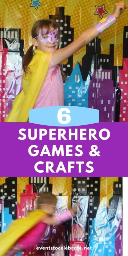 6 superhero crafts and games for girls