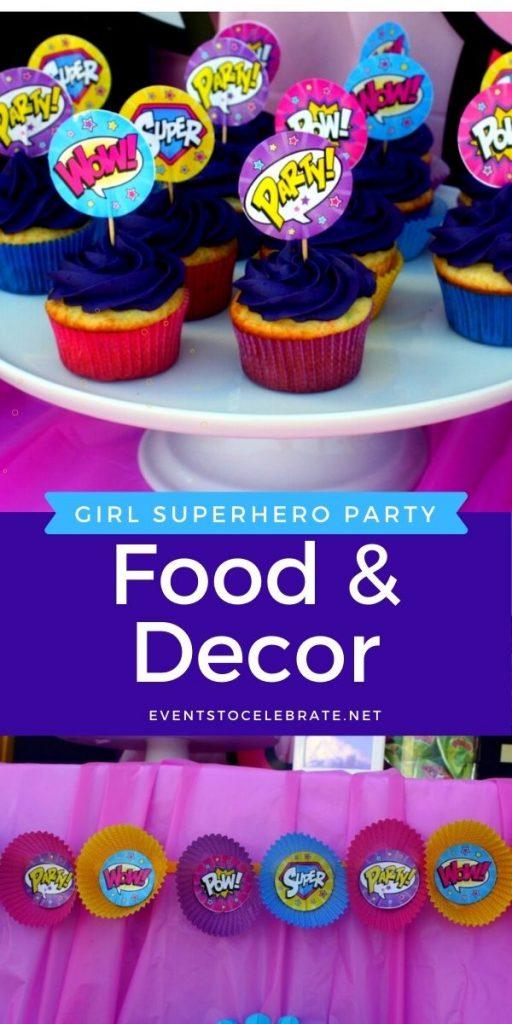 superhero party food and decor ideas