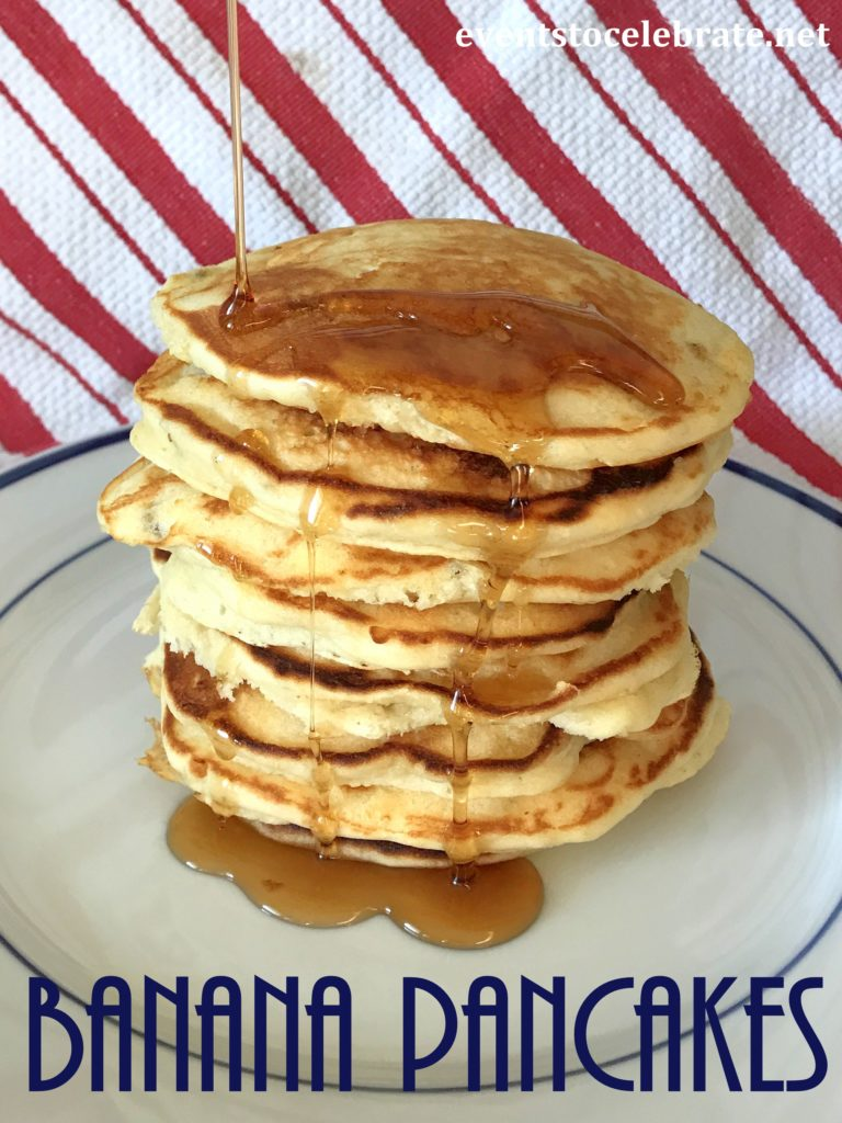 Banana Pancakes Recipe - eventstocelebrate.net