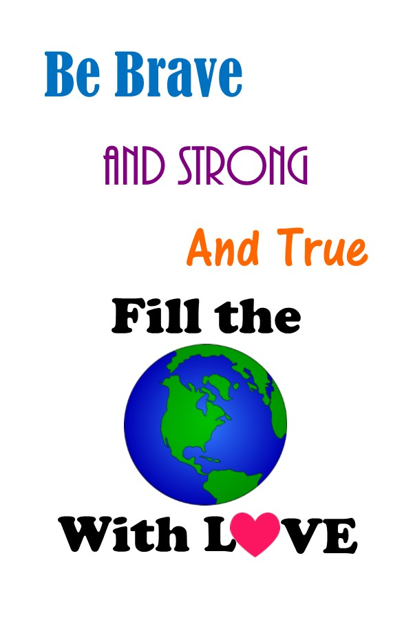 Back To School Theme - Fill The World With Love Printable