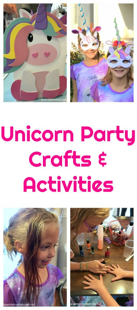 unicorn party crafts and activities