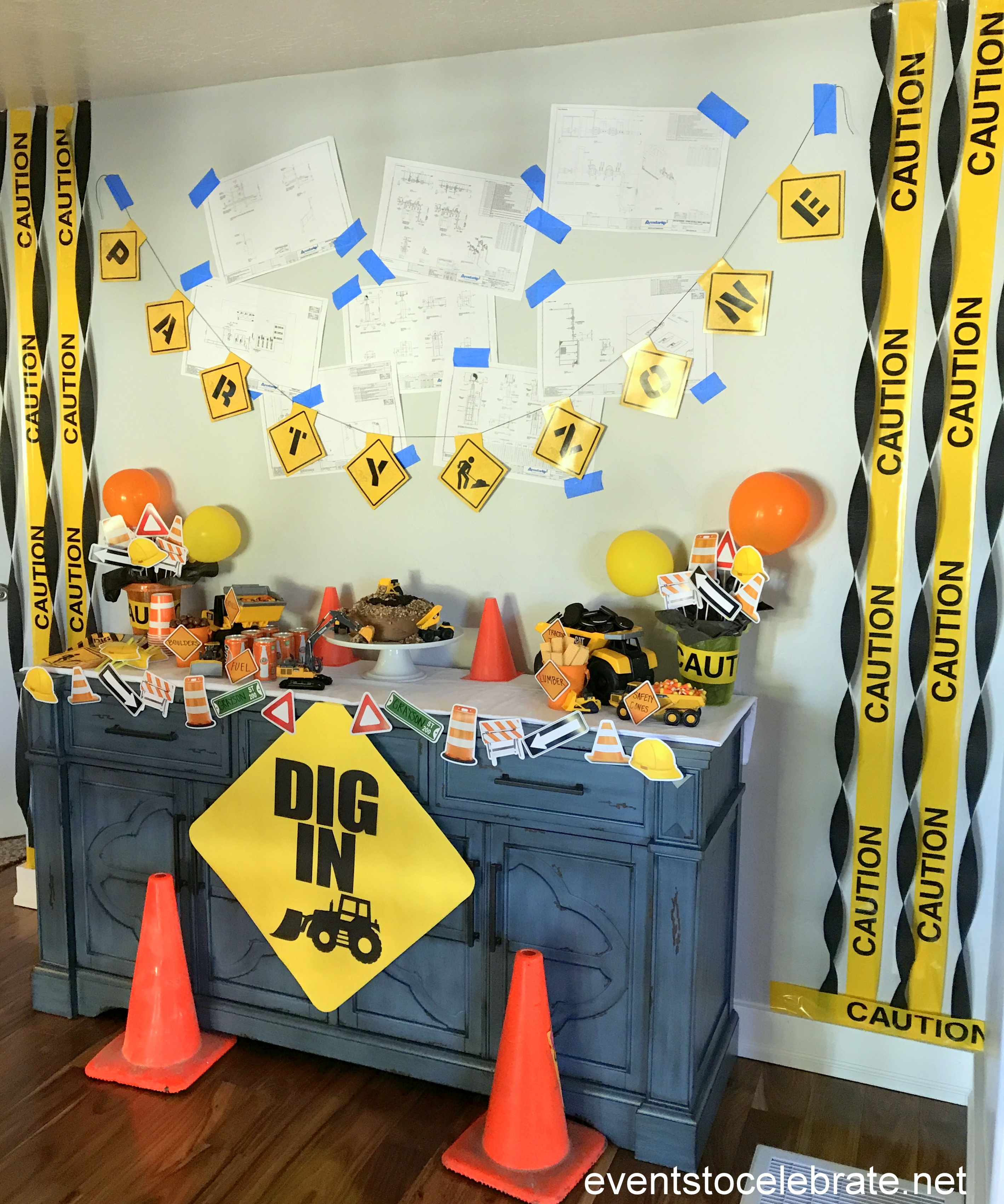 Construction birthday party events to celebrate for Construction