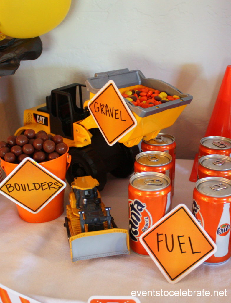 Construction Birthday Party - Construction party decorations, construction party food, construction party cake