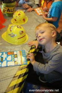 Construction party games, crafts, favors and invitations