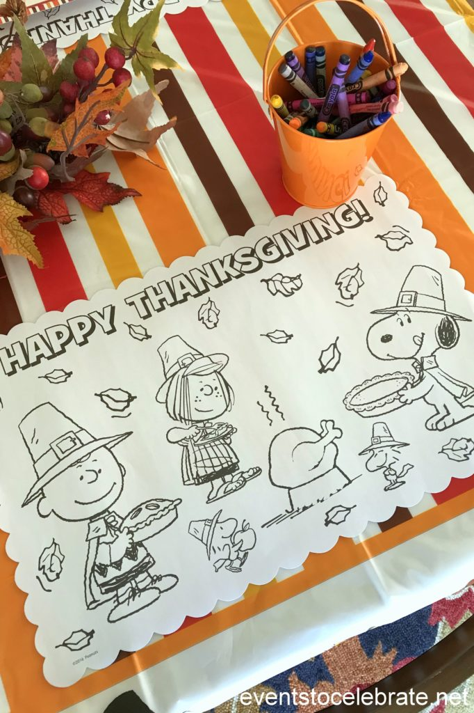 Thanksgiving coloring placemats - Thanksgiving Activities for Kids