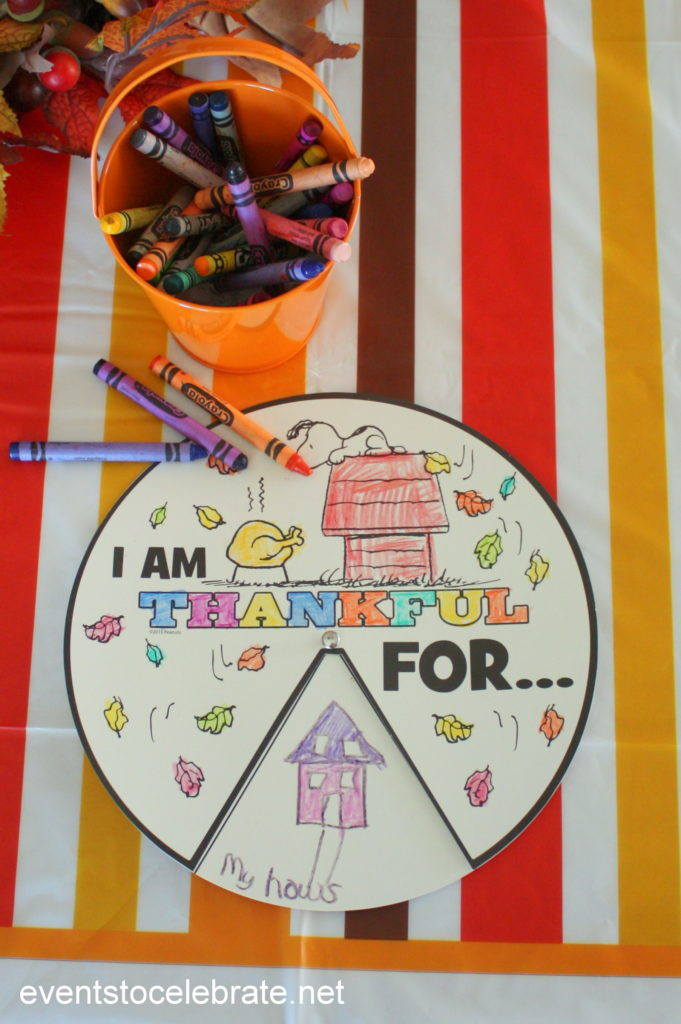 Thanksgiving Thankful Wheel - Thanksgiving Activities for Kids