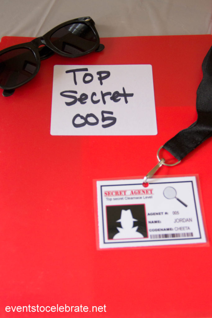 Spy Party Ideas: Activities, Favors and Secret Identity fun!