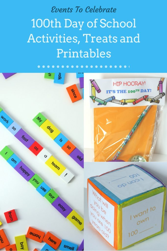 100th Day of School Activities, Treats and Printables
