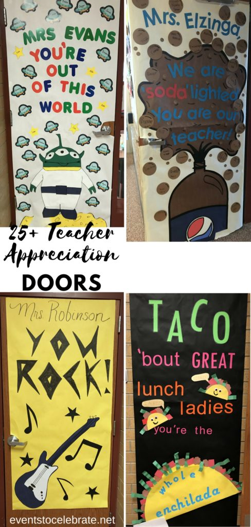 Teacher Appreciation Door Decoration Ideas - eventstocelebrate.net