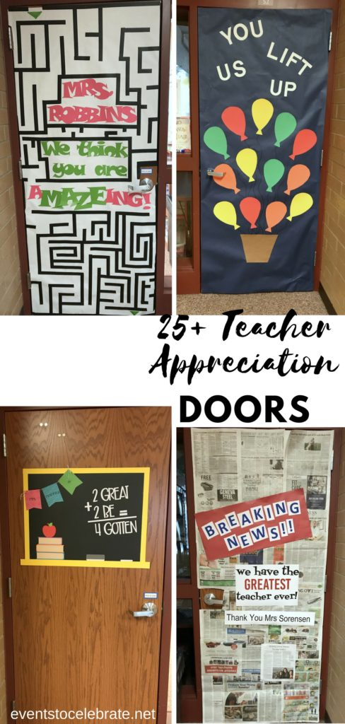 & Teacher Appreciation Door Decoration Ideas 6 - events to CELEBRATE!