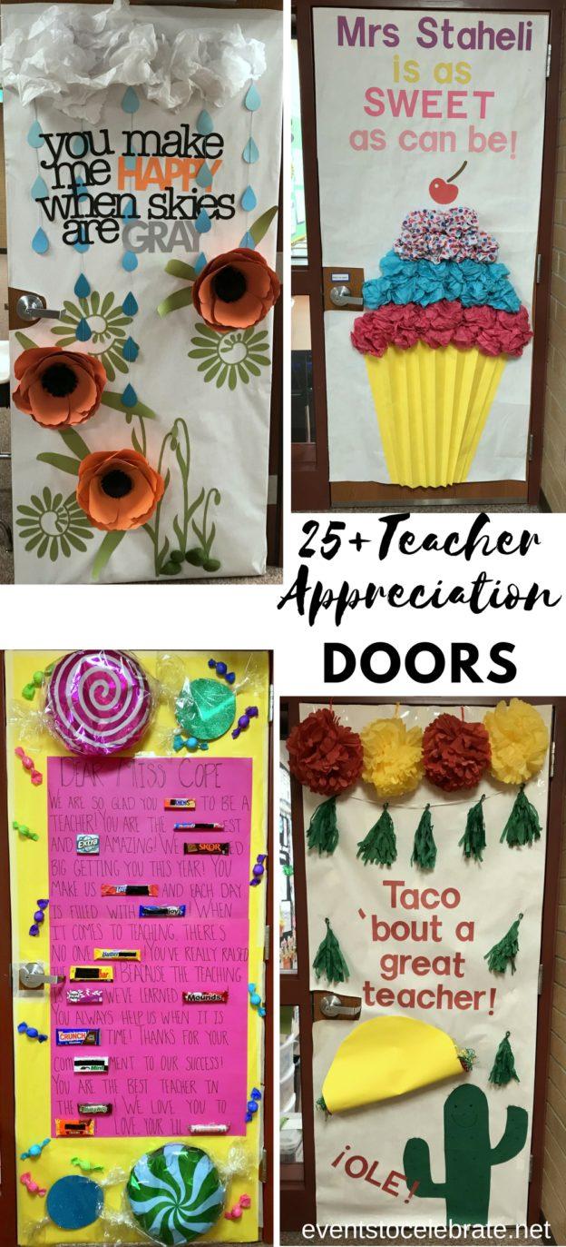 30 Teacher Appreciation Door Decoration Ideas Events To Celebrate