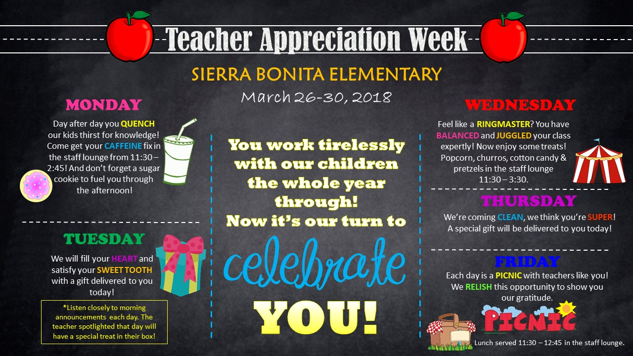 teacher appreciation week ideas events to celebrate