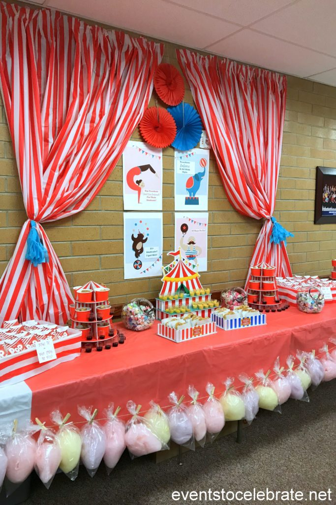 Teacher Appreciation Week Circus Snack Bar Events To