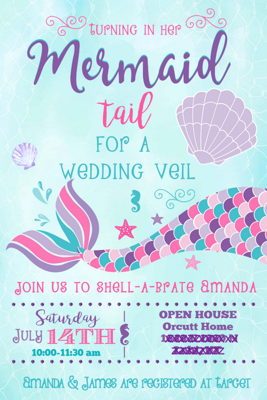 last splash mermaid bridal shower invitation