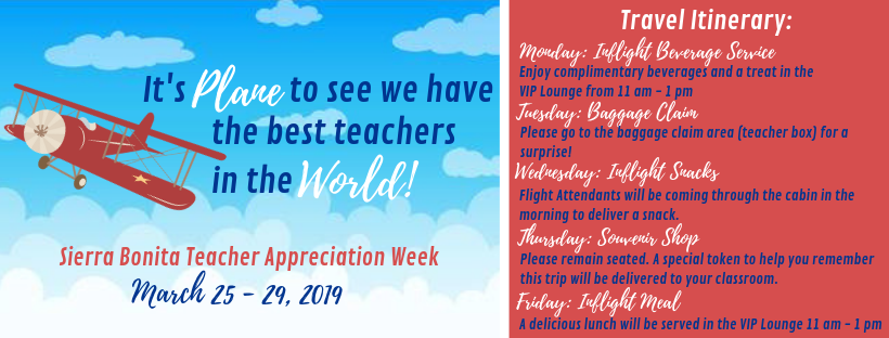 Teacher Appreciation Week Travel Theme