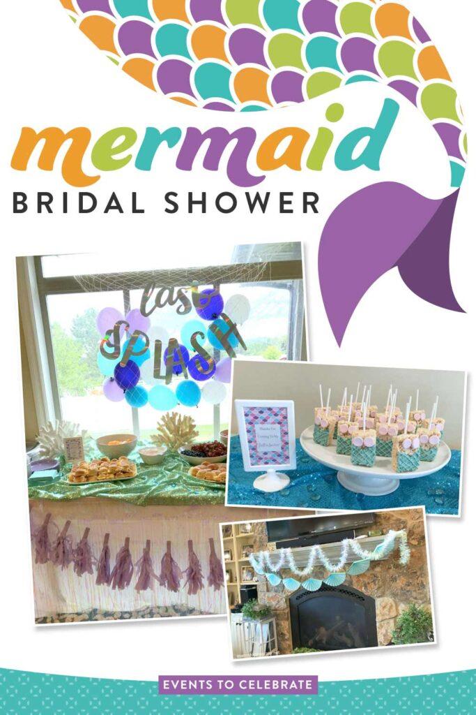 Mermaid themed bridal shower