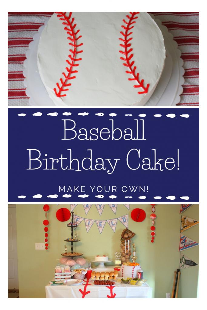 Easy Baseball Cake Tutorial