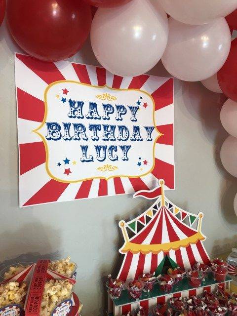 Birthday banner for a carnival party