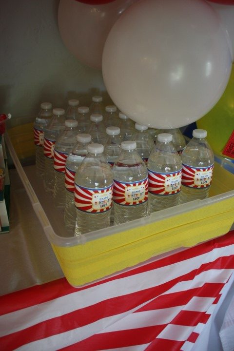 water for a carnival theme party