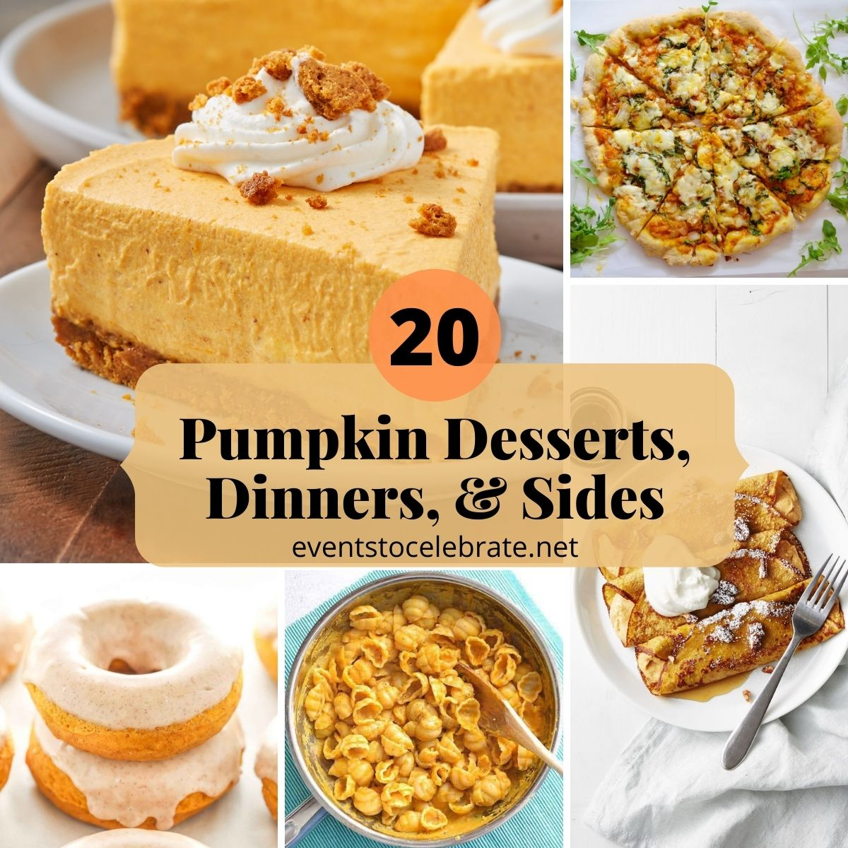 20 pumpkin desserts, dinners, and side dishes