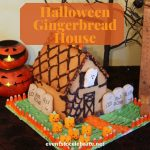 halloween style gingerbread house