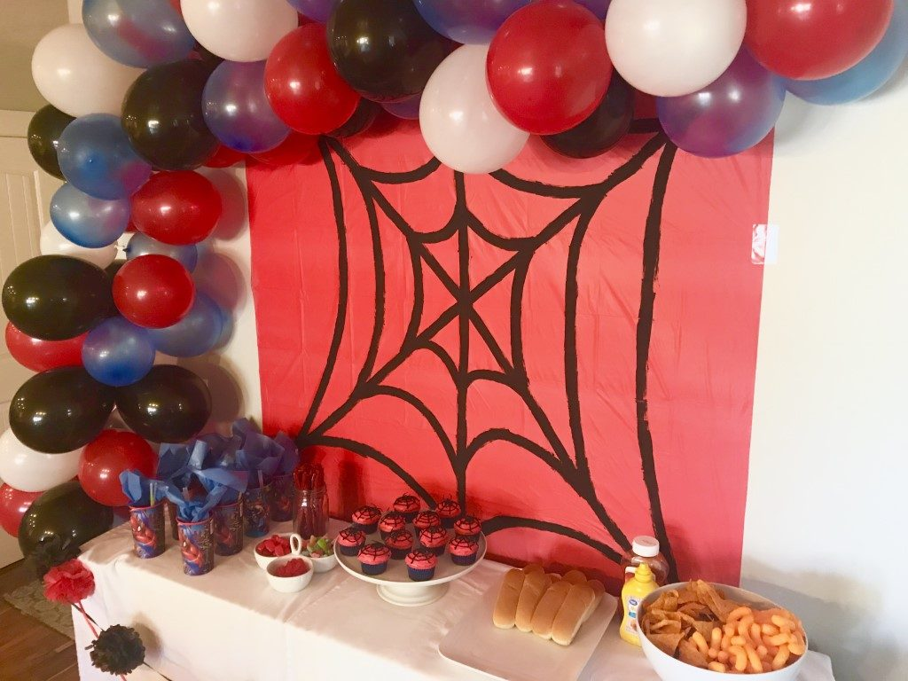 spiderweb DIY backdrop