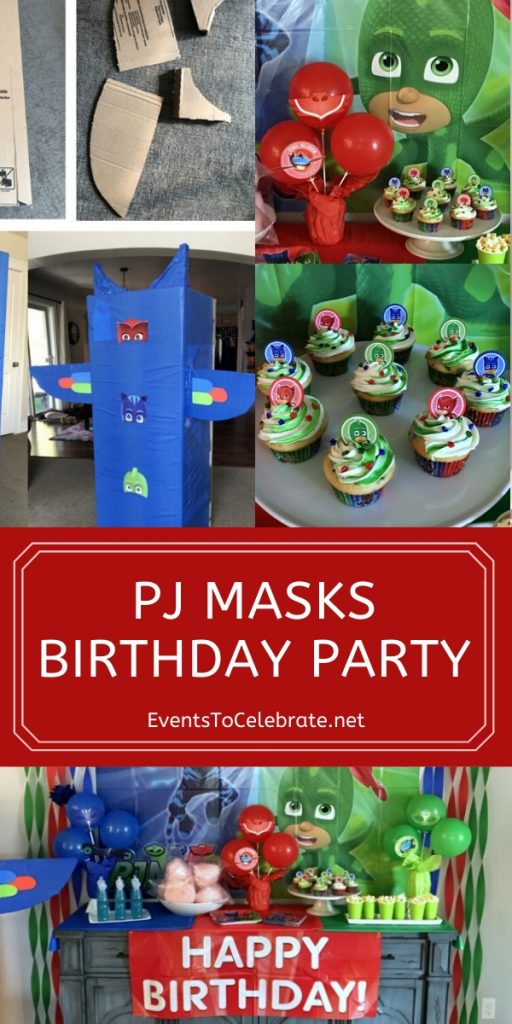 PJ Masks themed Birthday Party