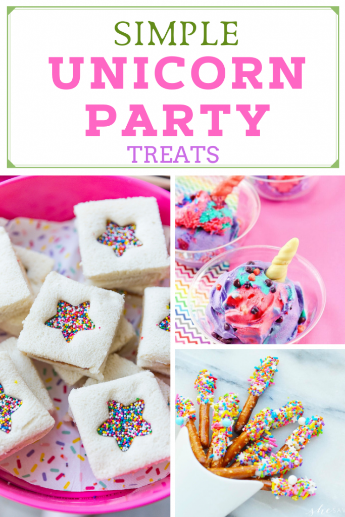 SIMPLE unicorn party treats