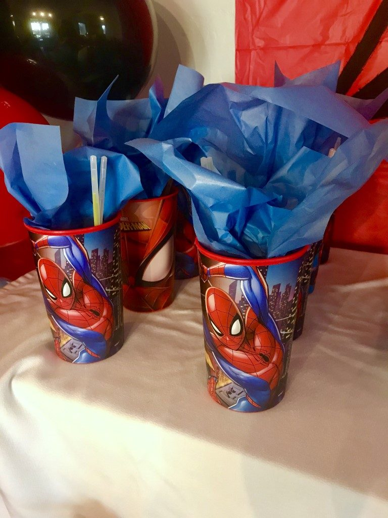 spiderman birthday party goody bag